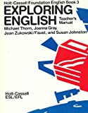 img - for Exploring English Teacher's Manual (Holt-Cassell Foundation English Book 3) book / textbook / text book