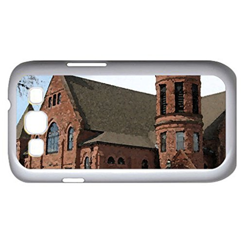 First Baptist Church In Amherst Nova Scotia (Religious Series) Watercolor Style - Case Cover For Samsung Galaxy S3 I9300 (White)