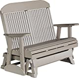 Outdoor Polywood 4 Foot Porch Glider - Classic Highback Design *WEATHERWOOD* Color