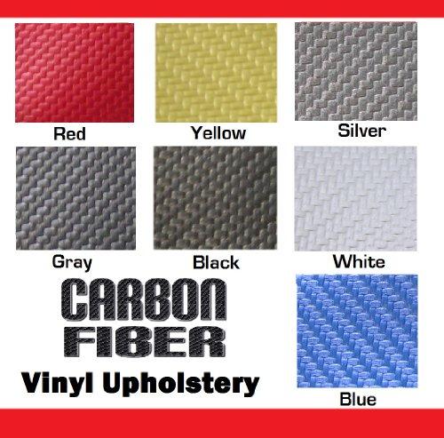 Carbon Fiber Vinyl Upholstery Fabric Marine Car Seat Blue