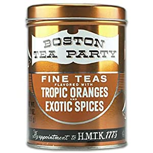 Boston Tea Party, Tropic Oranges and Exotic Spices, 25 Count Tins (Pack of 4)