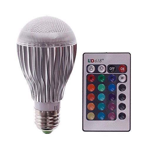 EconoLed 10W LED RGB Magic Lamp Light Bulb, Color Changing Spotlight with Remote Control (Led H11 Headlight Bulb 20w compare prices)