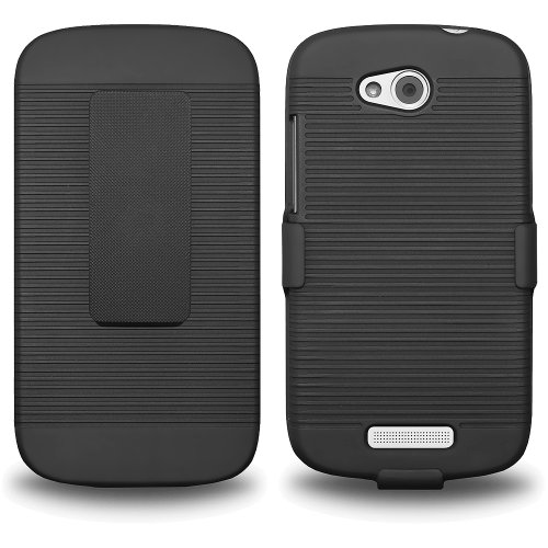 Click to buy Amzer AMZ95490 Shellster Combo with Hard Shell Holster and Case Cover for HTC One VX - Retail Packaging - Black - From only $16.95