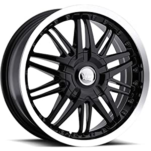 Vision Avenger 16 Black Wheel / Rim 5×100 & 5×4.5 with a 38mm Offset and a 74.1 Hub Bore. Partnumber 3816718GBML38
