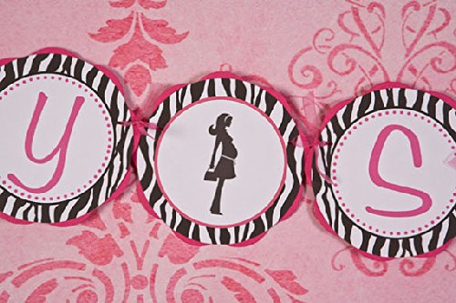 Mom To Be Baby Shower Banner (Pink & Zebra)
