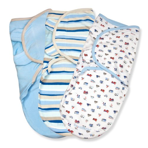 Summer Infant 3 Piece Swaddleme Adjustable Infant Wrap, Beep Beep, Small/Medium front-548946