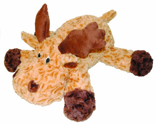 Patchwork Pet Swirl Moose 8-Inch Squeak Toy for Dogs