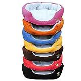 Bunty Soft Fabric Washable Dog Pet Warm Basket Bed with Fleece Lining - Orange - Medium