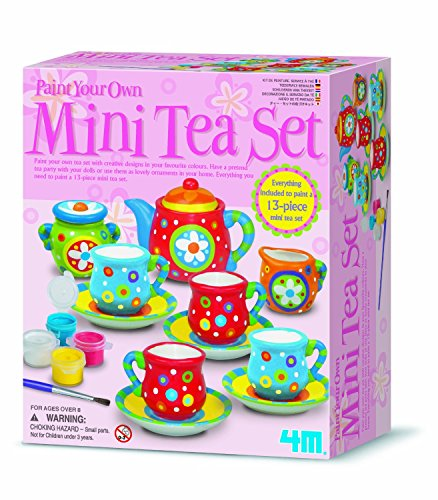 Tea Set Painting Kit - Girls Girl Children Child Kids - Make Your Own Set - Best Selling Birthday Present Gift Fun Toys & Games Idea Age 8+