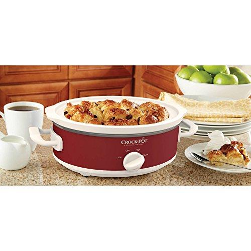 Crock-Pot Casserole Crock Mini Oval Slow Cooker, 2.5-Quart, Red (Three Quart Crock Pot compare prices)