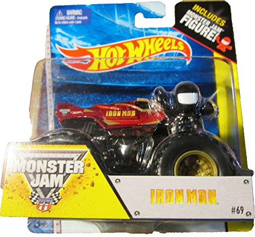 Hot wheels Monster Jam IRON MAN includes monster jam figure #69 off- road - 1
