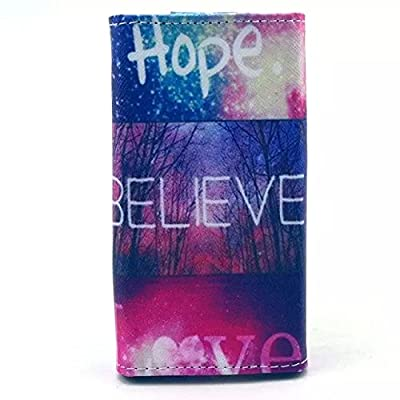 Blackberry Priv Case,Fashion Hope Believe Love Pattern Universal Smartphone Flip Wallet Clutch Bag Wristlet Carrying Leather Case for Blackberry Priv from JiLee