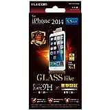 ELECOM iPhone6 Plus フィルム ガラスライク PM-A14LFLHPAG