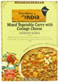 Kitchens Of India Ready To Eat Navratan Korma, Mixed Vegetable Curry & Cottage Cheese, 10-Ounce Boxes (Pack of 6)
