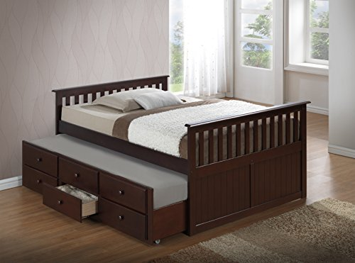 Boat Bed With Trundle And Toy Box Storage: Broyhill Kids Marco Island Full Captain's Bed With Trundle
