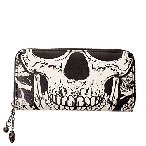 Portafoglio da donna a forma di teschio - Skull vietato miniportafoglio - si illumina al buio alalal portamonete