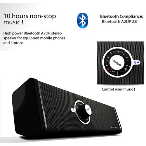 Bluetooth 2/3.0 Hd Boombox A2Dp Loud Music Speaker With Sub 10Hrs Of Play For T-Mobile Springboard Tablet ( Huawei Springboard S7 Mediapad )