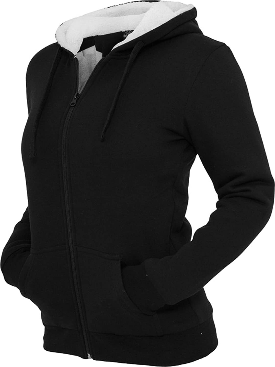 URBAN CLASSICS Ladies Winter Zip Hoody TB396 slim fit bestellen