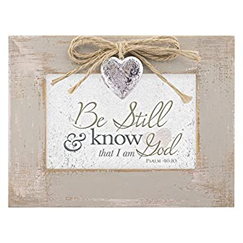 Be Still & Know That I am God Distressed Wood Locket Jewelry Music Box Plays Tune Amazing Grace