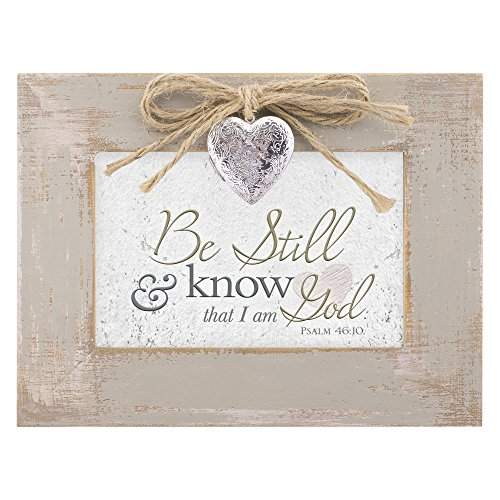 Be Still & Know That I am God Distressed Wood Locket Jewelry Music Box Plays Tune Amazing Grace 1