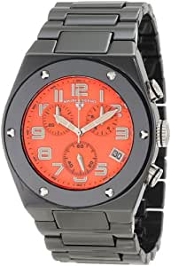 Swiss Legend Men's 10028-BKOSA Throttle Chronograph Orange Textured Dial Watch
