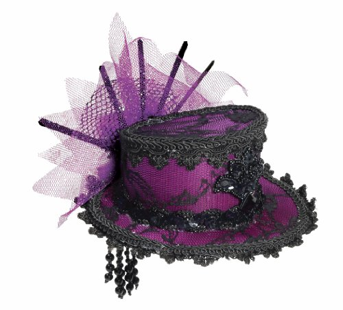 Forum Novelties Women's Steampunk Victorian Mini Top Hat Costume Accessory, Purple, One Size