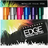 Hair Chalk | Metallic Glitter Temporary Hair Color - Edge Chalkers - Lasts up to 3 Days, No Mess, Built in Sealant, 80 Applications Per Stick, Works on All Hair Colors