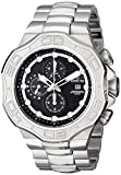 Invicta Pro Diver Men's Quartz Watch with Black Dial Chronograph display on Silver Stainless Steel Bracelet 12427
