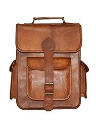 Digital Rajasthan Real Leather School Rucksack Handmade Messenger Bagpack Vintage Backpack(DR016.1AC).