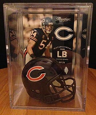 Chicago Bears NFL Helmet Shadowbox w/ Brian Urlacher card
