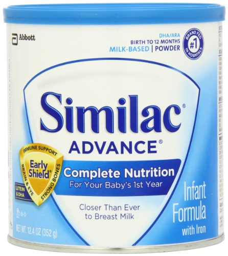 Similac Advance Infant Formula with Iron, Powder, 12.4-Ounces (352 g) (Case of 6) (Packaging May Vary)