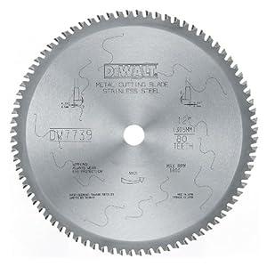 DEWALT DWA7739 80 Teeth Stainless Steel Metal Cutting 1-Inch Arbor, 12-Inch