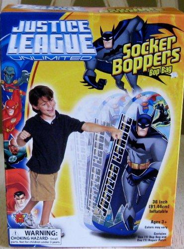 "Justice League Unlimited Batman 36"" Inflatable Socker Boppers Bop Bag"