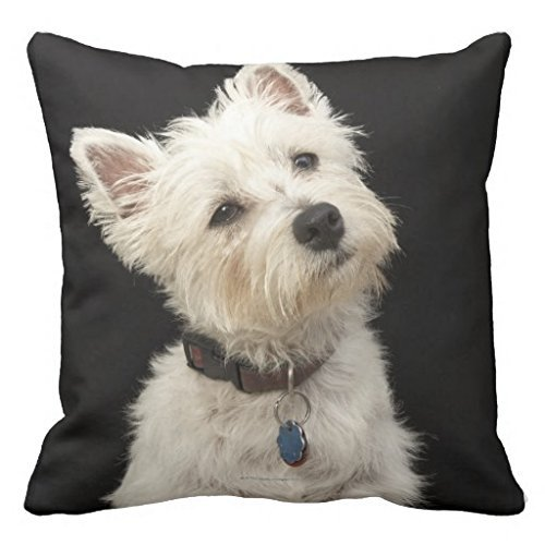Westie West Highland Terrier With Collar Throw 18*18 pillow Case