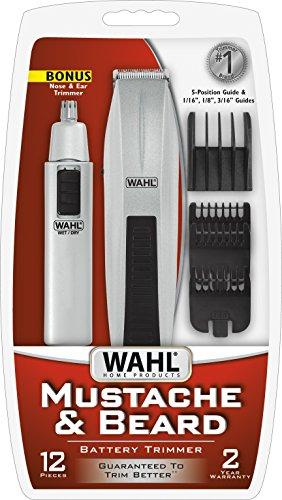 wahl mustache and beard trimmer with bonus trimmer 5537 420 ebay. Black Bedroom Furniture Sets. Home Design Ideas
