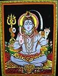 Lord Shiva Meditation Yoga Sequin Cot...