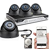 Zmodo 4CH 960H DVR 4x600TVL Home CCTV Video Day Night Surveillance Security Camera System w/ 500GB Hard Drive Easy Network Setup in Seconds 3G/4G WiFi Remote View