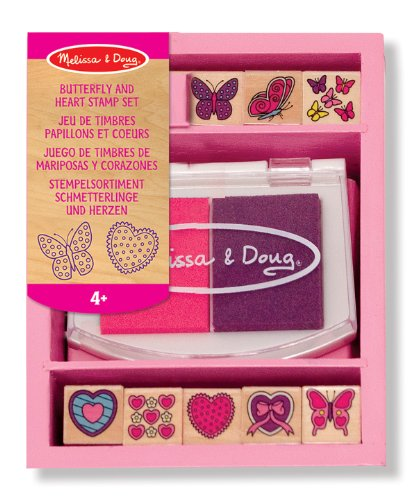 Sale!! Melissa & Doug Butterfly & Heart Stamp Set
