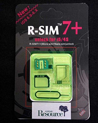 ios8対応最新 rsim7+ver7.4 SIMロック解除アダプタデータ・通信専用 iPhone5/5s/5c/4S対応/docomo格安sim専用/rsim/r-sim/ R-SIM7+ (白+アクティベーションシムセット)