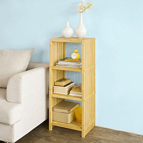 SoBuy® FRG120-N Étagère Bibliothèque en bambou -4 niveaux