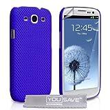 """Samsung Galaxy S3 Tasche Blau Masche Harte H�lle Mit Displayschutz Und Poliertuchvon """"Yousave Accessories�"""""""