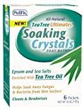 Pedifix Tea Tree Ultimates Soaking Crystals Foot Bath, 1 ounce,  6 Packets