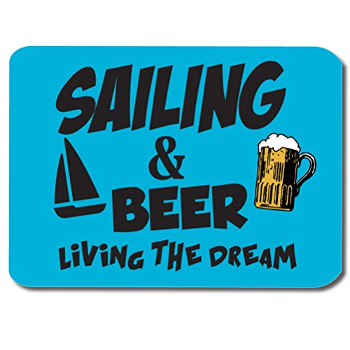 SAILING-BEER-Fathers-Day-Novelty-Sporting-Gift-Gift-Idea-Computer-PC-Mouse-Mat-Pad