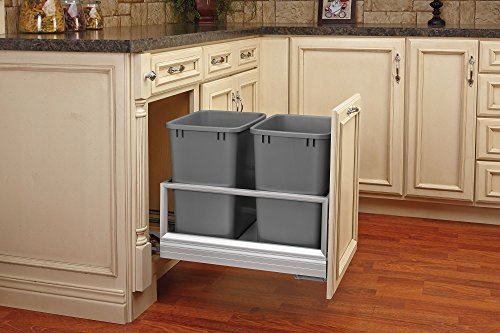 Rev-A-Shelf - 5149-18DM-217 - Double 35 Quart Pullout Waste Containers