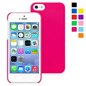 Snugg iPhone 5 / 5S Ultra Thin Case in Hot Pink - High Quality Slim Profile Non Slip, Protective and Soft to touch for Apple iPhone 5 / 5S