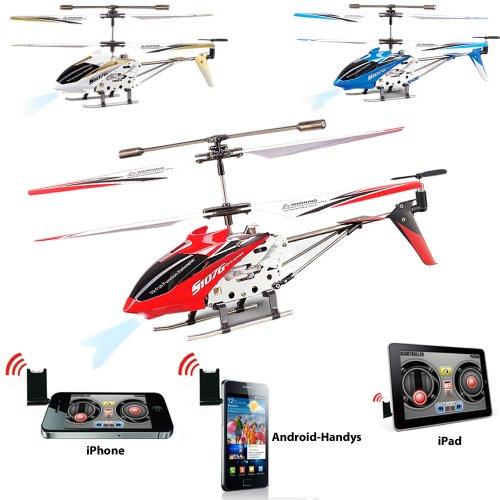 Bilder von i-Copter - 3,5 Kanal mini rc r/c ferngesteuerter Hubschrauber Steuerung mit iPhone 3G/3GS/4/4S/iPad/iPod/ANDROID-HANDY/SMARTPHONE!!! Heli mit der neuesten Gyro-Technologie und LED's inkl. MEGA-SET!