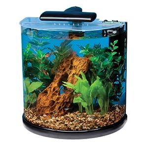 Amazon.com : Tetra 29234 Half Moon Aquarium Kit, 10-Gallon ... 10 Gallon Home Aquariums