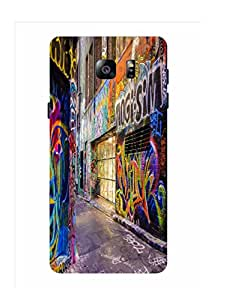 Bagsfull Designer Printed Matte Hard Back Cover Case For Samsung Galaxy Note 5