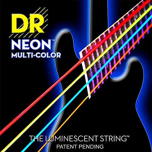 Dr Strings Nmcb6-30 Dr Neon 6 Bass Guitar String, Medium, Multi-Color