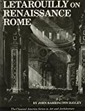img - for Letarouilly on Renaissance Rome (The Classical America Series in Art and Architecture) book / textbook / text book